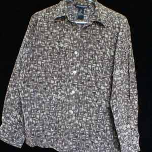 Jonathan Martin vintage silk long sleeve blouse M